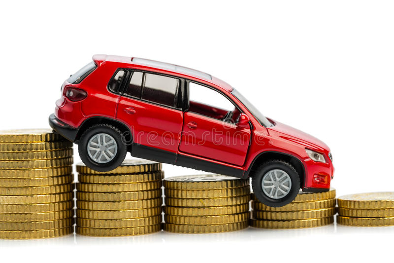 Declining Profits In Car Sales Stock Photography