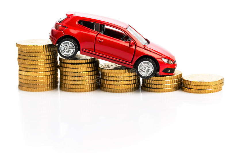 Declining profits in the motor trade stock photos