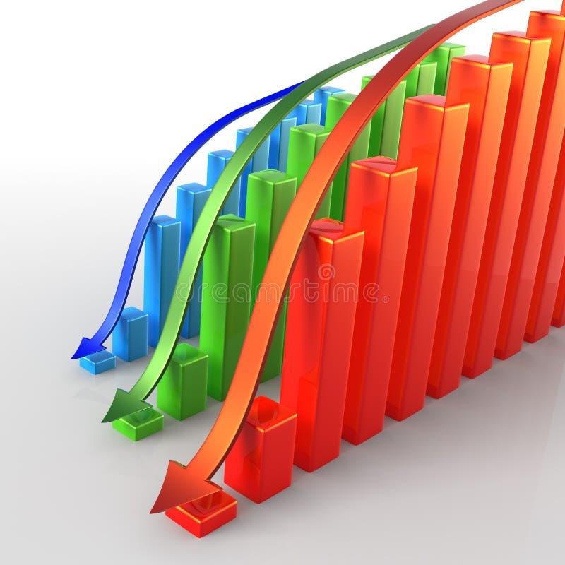 Download Declining Sectors stock illustration. Illustration of depression - 12631269