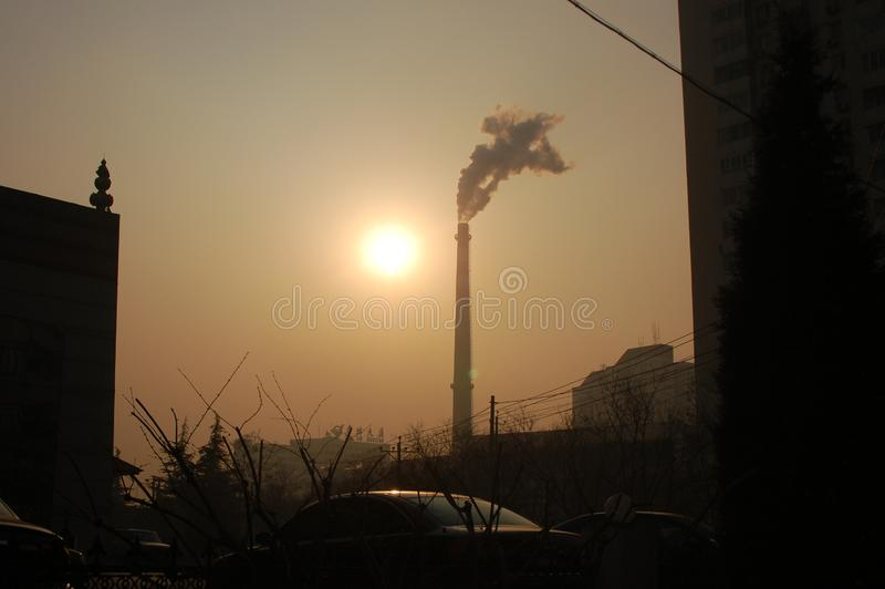 Download Declining sun stock image. Image of contamination, setting - 4313543