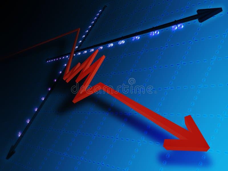 Declino illustrazione di stock