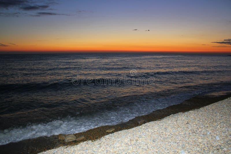 Declino del mare in Soci fotografia stock