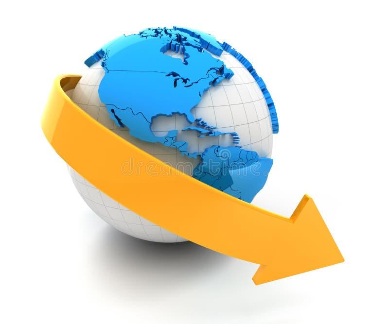 Declino globale illustrazione vettoriale