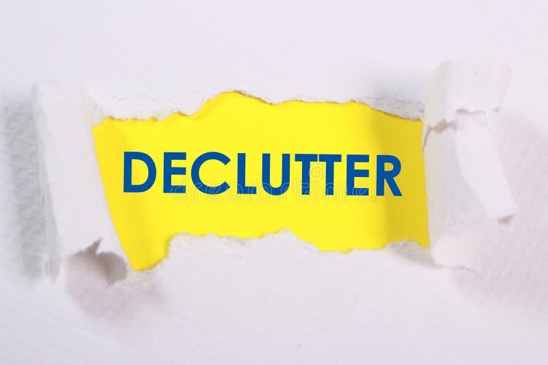 Declutter, Motywacyjny słowo wycen pojęcie ilustracji