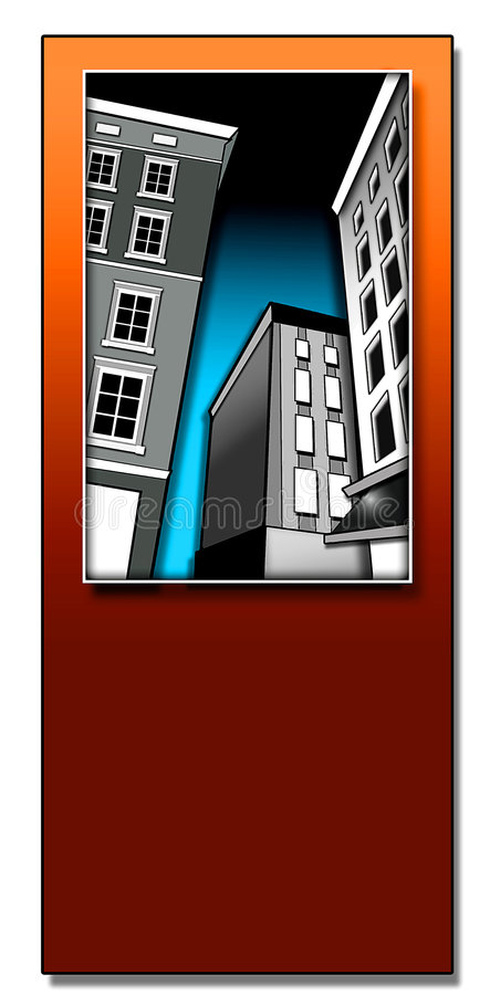 deco зданий иллюстрация штока