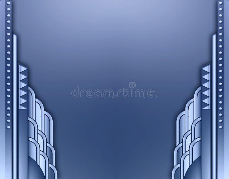 Deco building border stock illustration