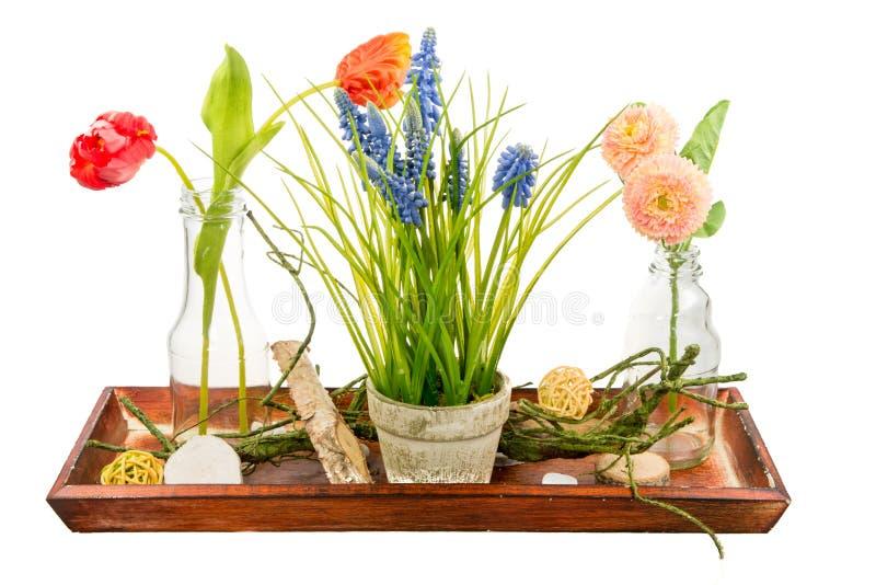 Deco d'isolement de fleur artificielle images stock