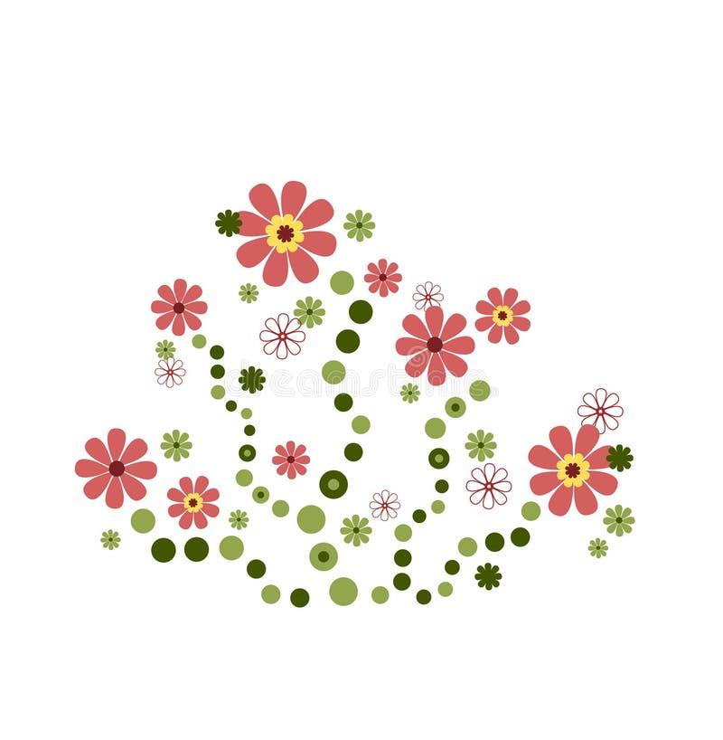 Deco de fleur dans le rose illustration de vecteur