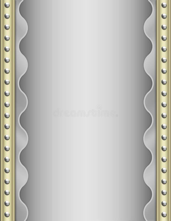 deco de fond d'art métallique illustration stock