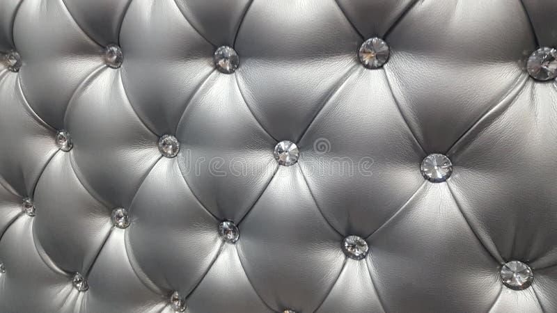 Deco-Design strass cuir Grau stockfoto