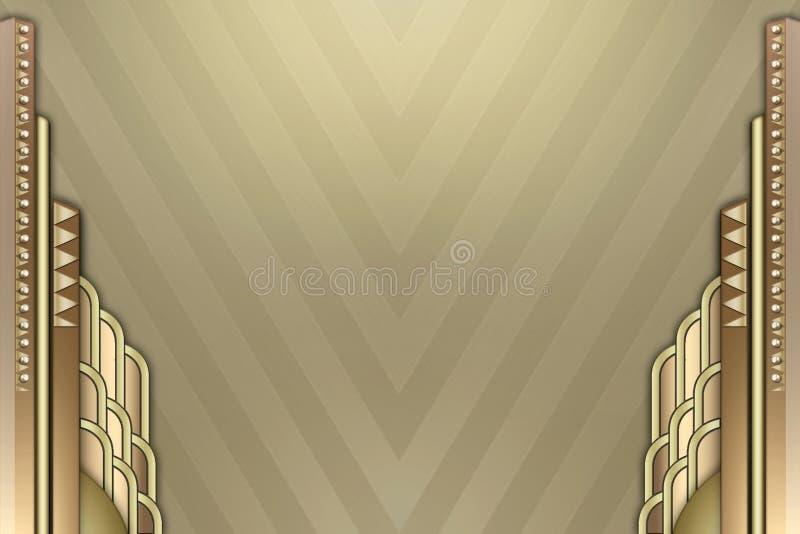 deco för konstkantbyggnad stock illustrationer