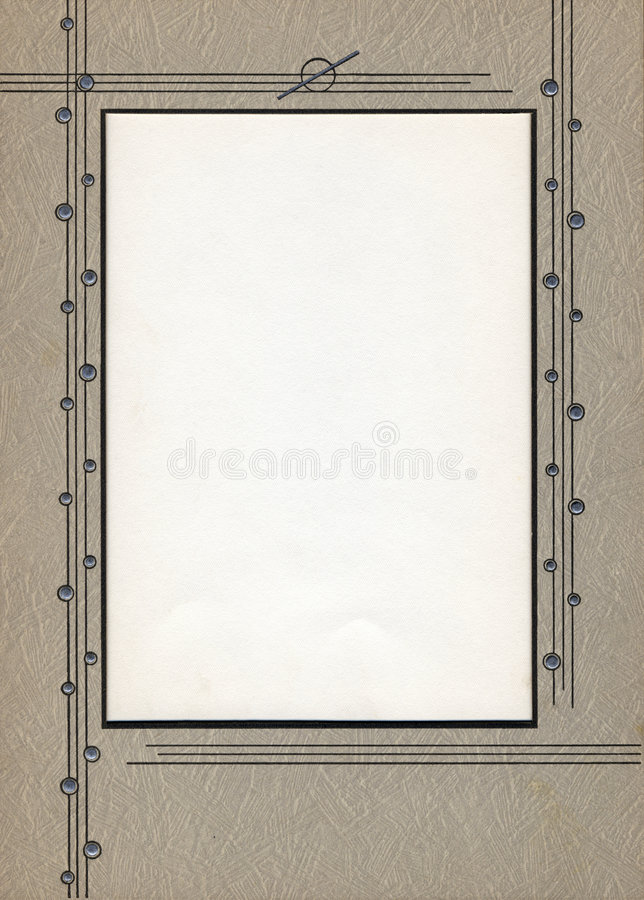 Deco Frame stock photography