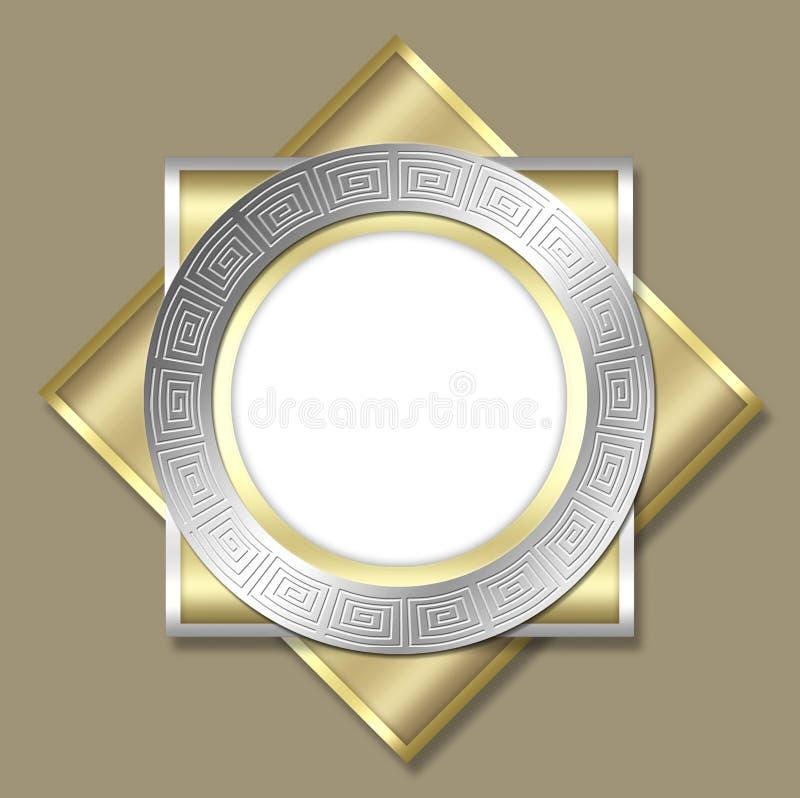 Deco frame & tile design stock photos