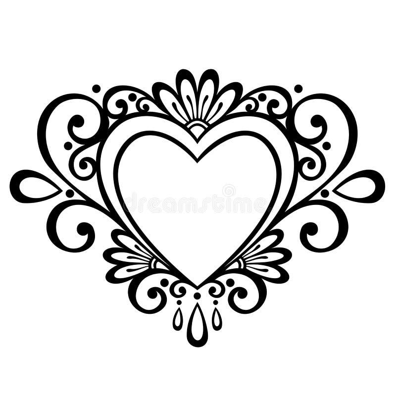 Deco Heart stock illustration