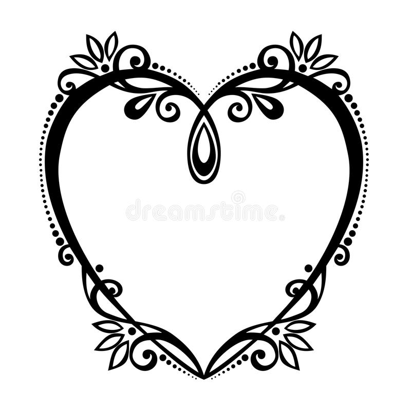 Deco Heart. Vector Deco Abstract Heart. Design element royalty free illustration