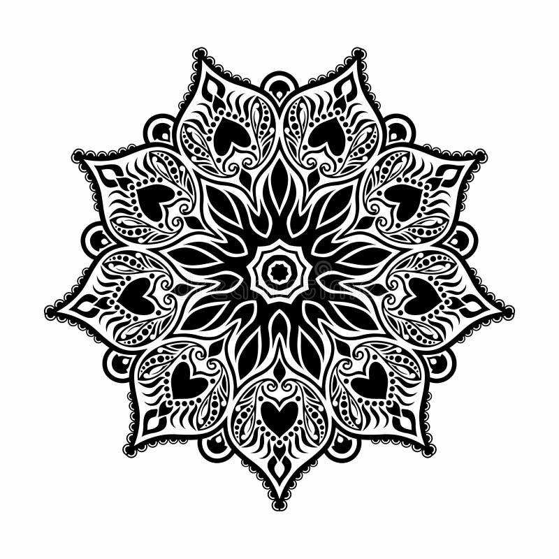Deco hermoso Mandala Vector stock de ilustración