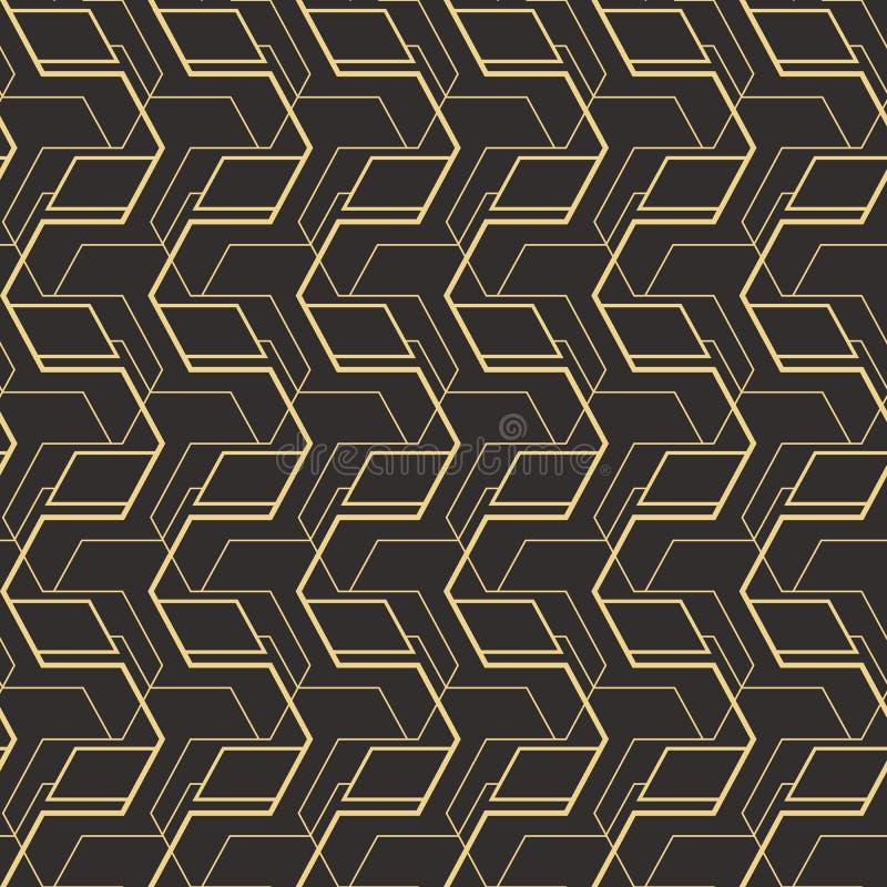 Deco pattern_1 senza cuciture di astrattismo illustrazione vettoriale