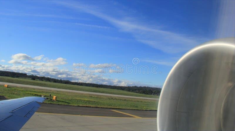 Decolagem de Airplaner imagem de stock