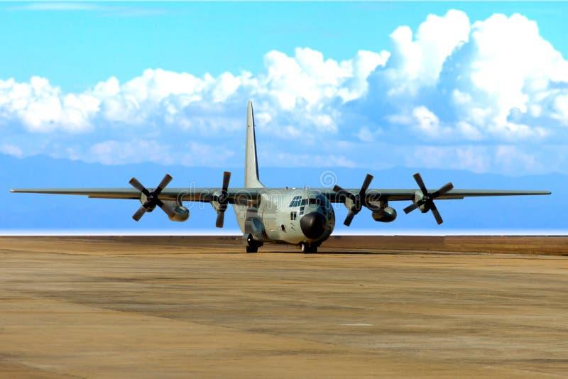 Decollo degli aerei di trasporto fotografia stock