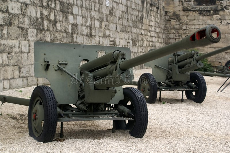 Download Decomissioned War Canons In Budapest On Display Royalty Free Stock Photos - Image: 5461768