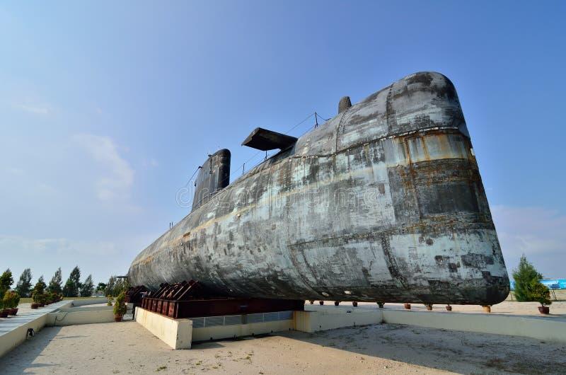 Decommissioned kunglig malaysisk marinubåt Agusta 70 royaltyfri bild