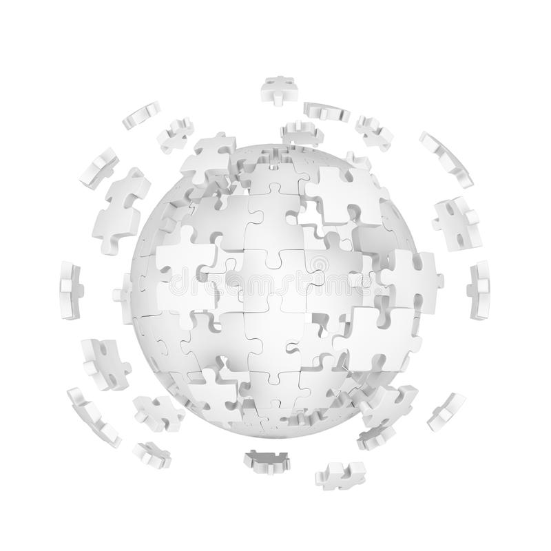 Download Decomposed Sphere Of Puzzle Stock Illustration - Illustration: 13202700