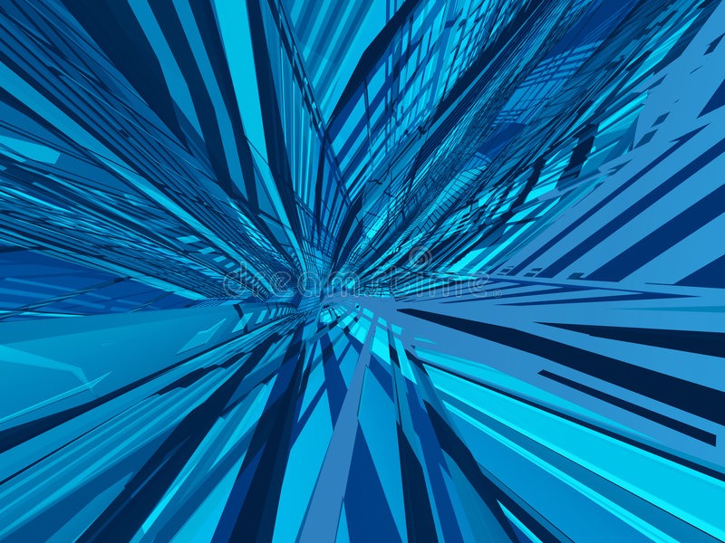 Deconstruction azul sin fin libre illustration