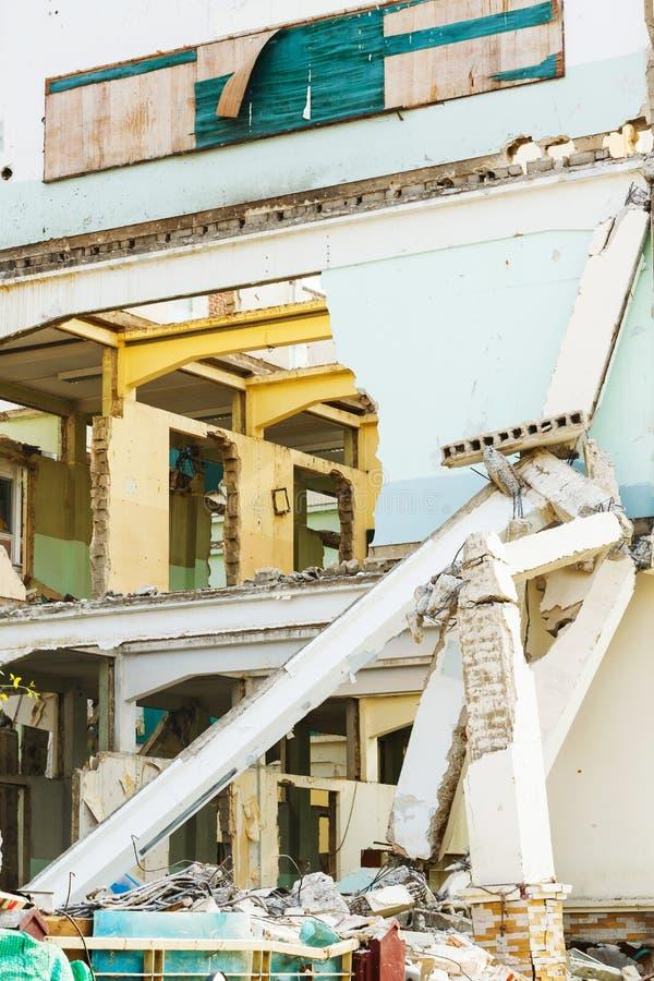Deconstruction budynek zdjęcia stock