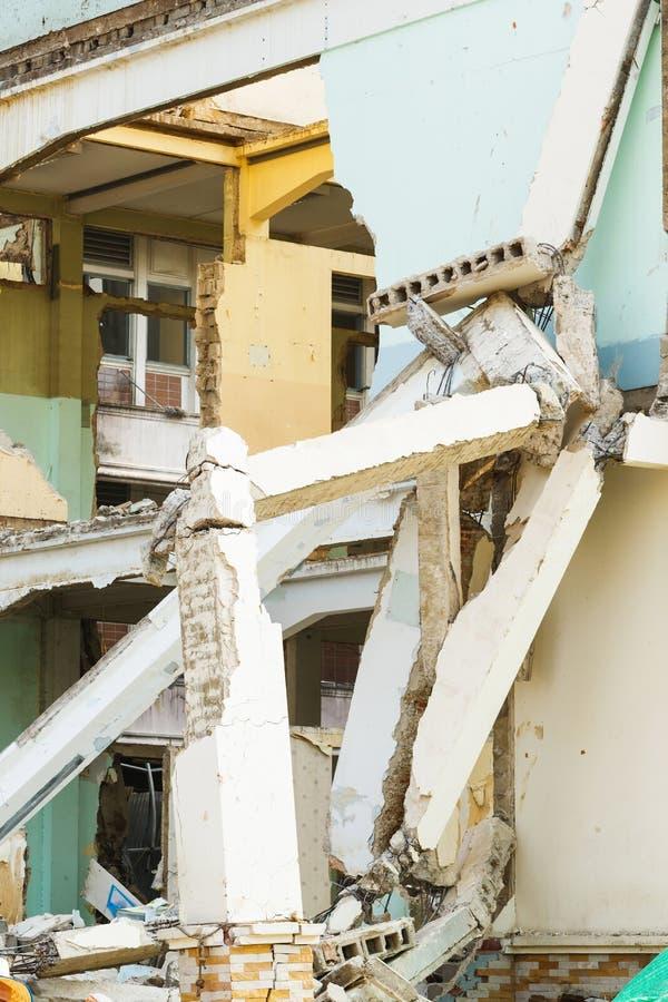 Deconstruction budynek zdjęcia royalty free
