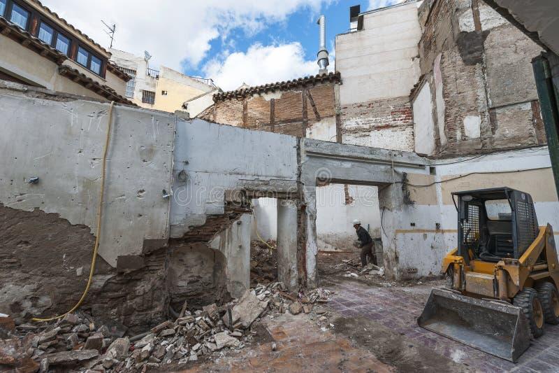 Deconstruction stary dom obraz stock