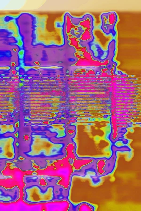 Deconstruktivist-Art Einstellungs-Abstraktion lizenzfreie stockfotos