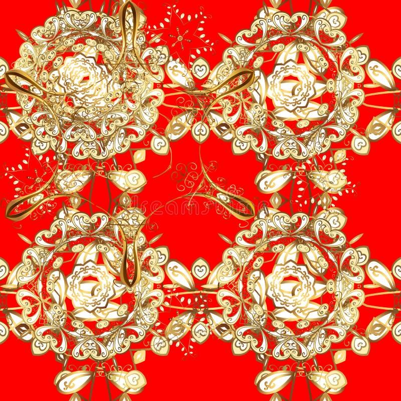 Decor arabo tradizionale con colori rosso e marrone illustrazione vettoriale