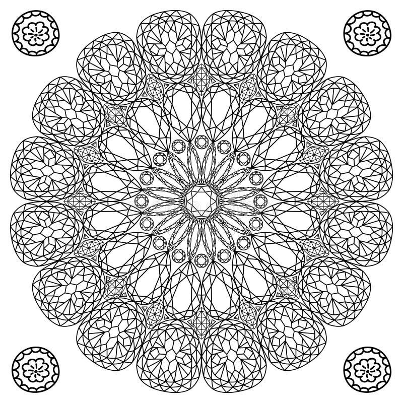 Free Decor Floral Gem Mandala Royalty Free Stock Image - 70622226