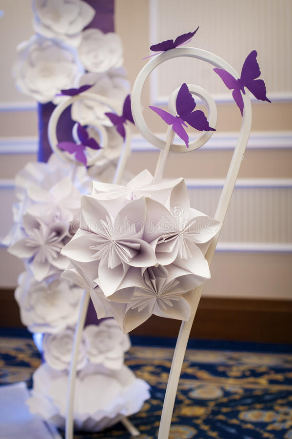 Decor, holiday decoration made ​​of paper royalty free stock images