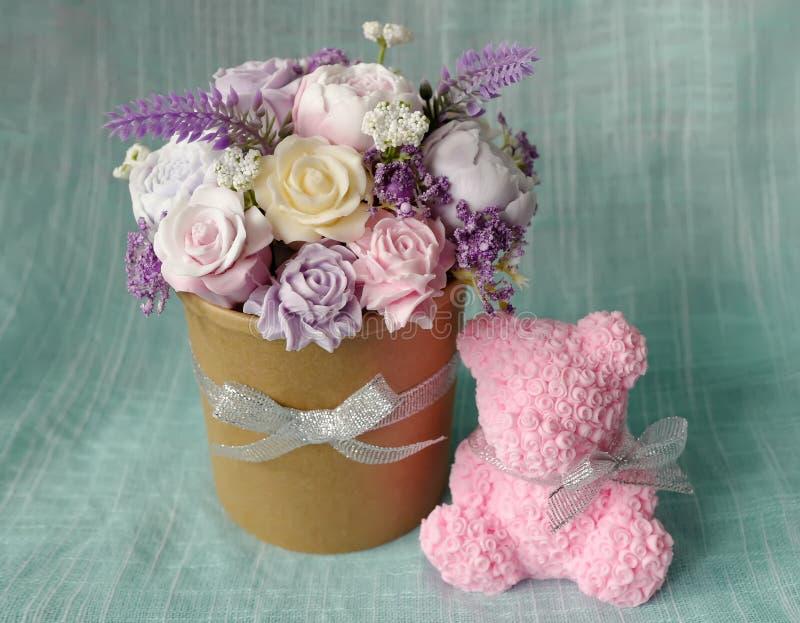 cuddly teddy bear soft toy green lavender handmade lilac bear baby shower green teddy bear purple brown decor Lavender Bear Cub brown