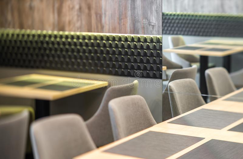 Furniture in modern restaurant. Decor of the interior. Decor of the interior. Furniture in modern restaurant royalty free stock images