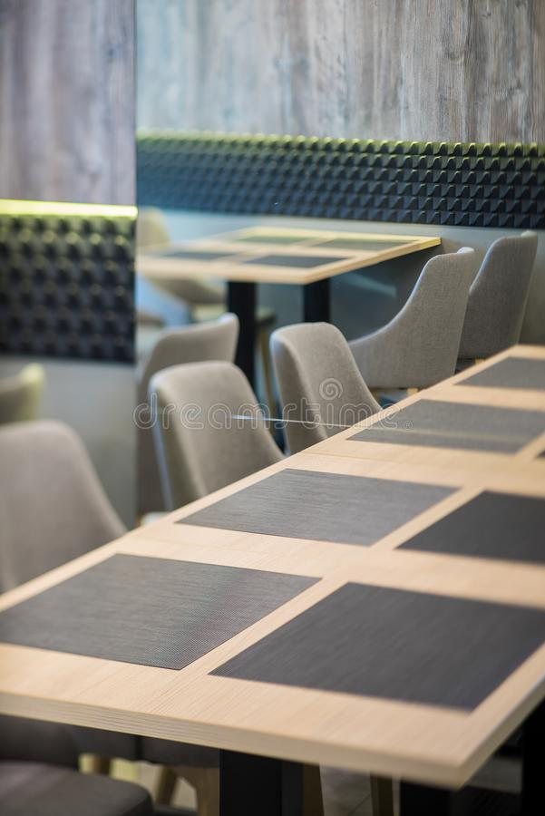 Furniture in modern restaurant. Decor of the interior. Decor of the interior. Furniture in modern restaurant royalty free stock image