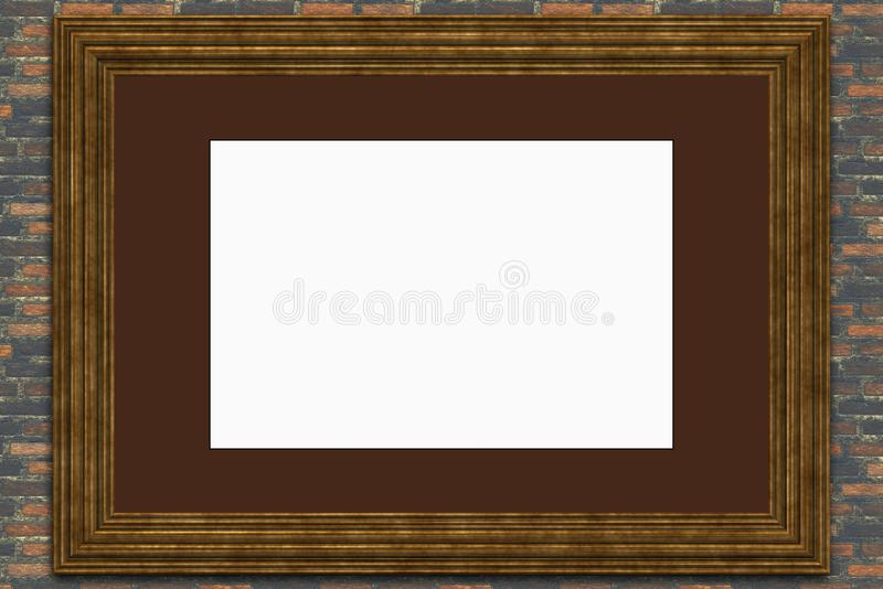 Decor Room- Blank Picture Frame Stock Photo - Image of nobody ...