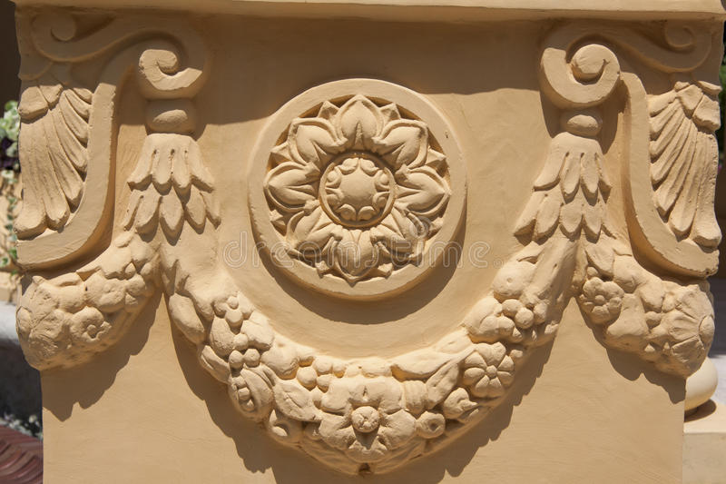 Decor van Griekse rotonda stock foto