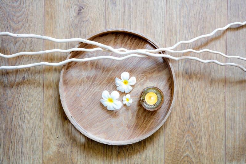 Decor van zenmeditatie, mindfulness of vertroetelende massage, boven mening royalty-vrije stock foto's