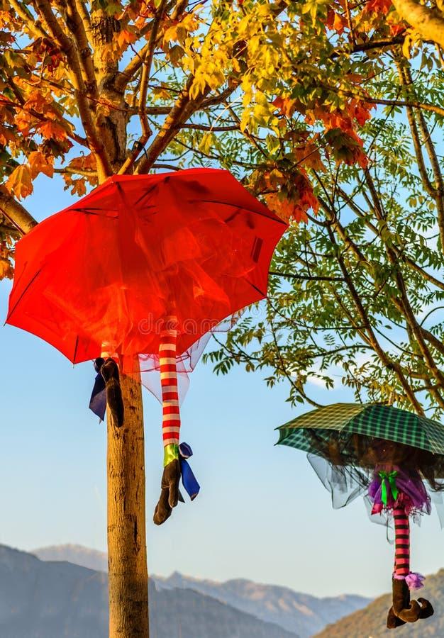 Suficiente Decoração Do Guarda-chuva De Dia Das Bruxas Foto de Stock - Imagem  WU16