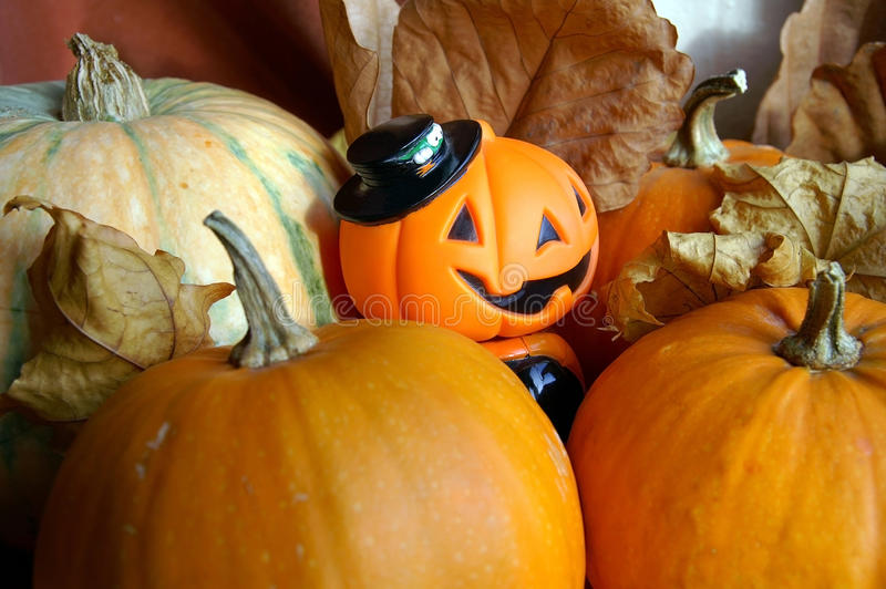 Decoração à noite da celebração de Halloween