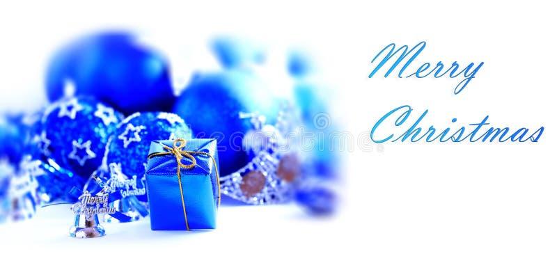 Decoração azul do xmas fotografia de stock royalty free