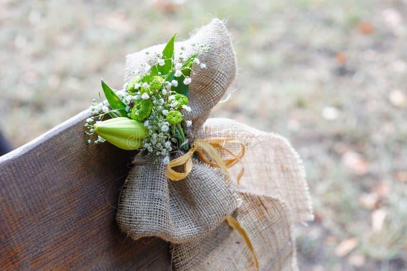Decoração bem-vinda feito à mão de madeira do casamento fotos de stock