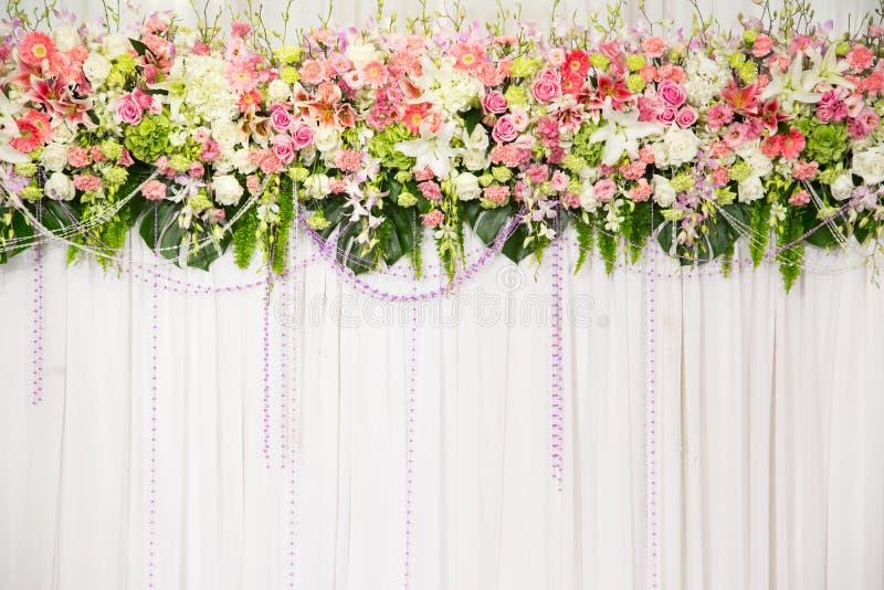Decoração bonita do casamento da flor imagem de stock royalty free
