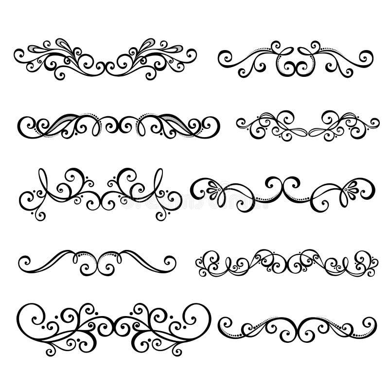 Decoração caligráfica da página do anctor d das beiras ilustração royalty free