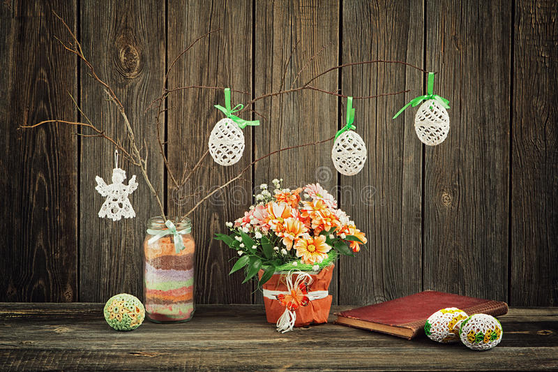 Decoração caseiro de Easter fotos de stock