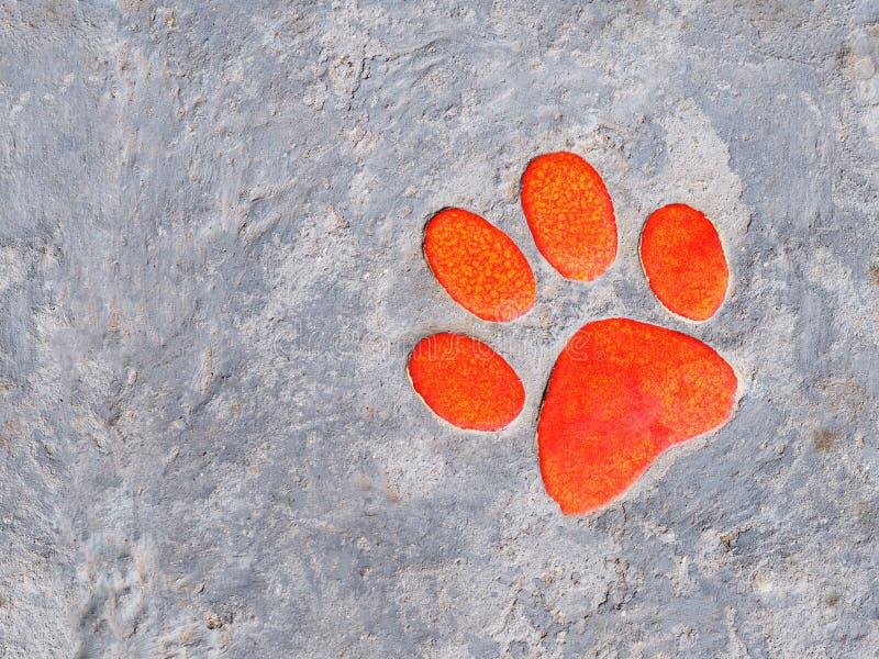 Decoração cerâmica da pata alaranjada no passeio imagem de stock royalty free