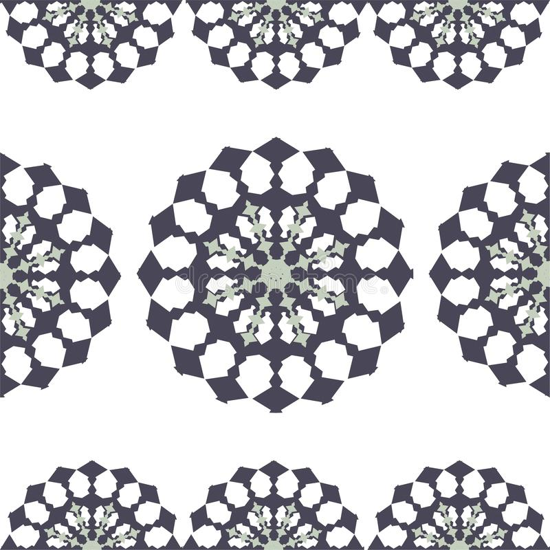 Decoração cerâmica sem emenda com retalhos coloridos Teste padrão multicolorido do vintage ilustração do vetor