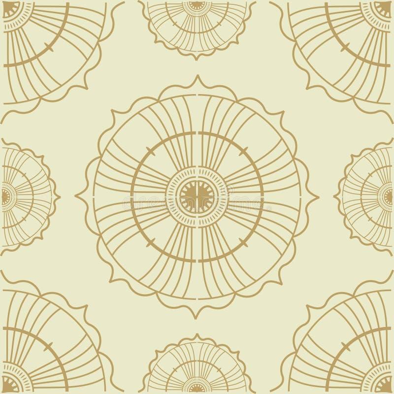Decoração cerâmica sem emenda com retalhos coloridos Teste padrão multicolorido do vintage ilustração stock